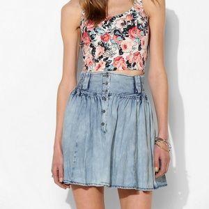 Urban Outfitters BDG Light Wash Elastic Jean Skirt